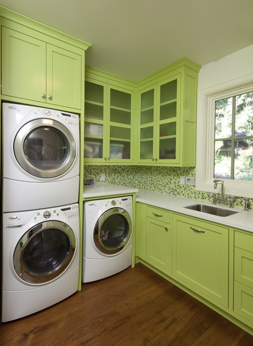 Laundry Room In Kitchen Contemporary Laundry Room