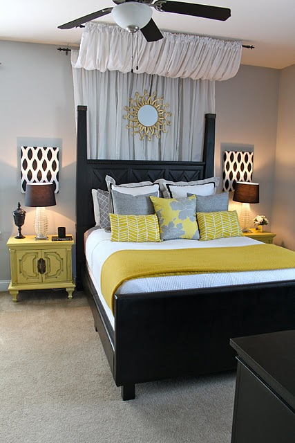 A cozy and comfortable guest bedroom is key to making sure guests feel comfortable in your home. Yellow and Gray Bedroom Design Ideas