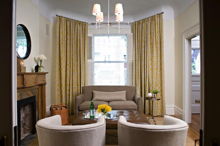 Trellis Curtains Transitional Living Room Jute