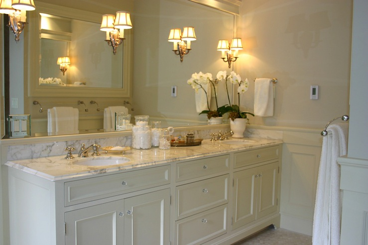 ivory double vanity - transitional - bathroom - graciela rutkowski