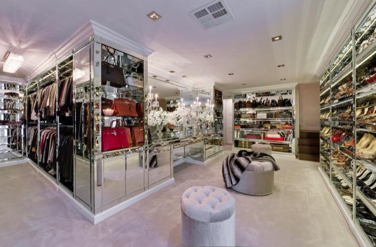 Mirrored Vanity Table Contemporary Closet