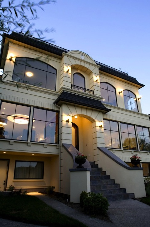 French Home Exterior Transitional Home Exterior Paul