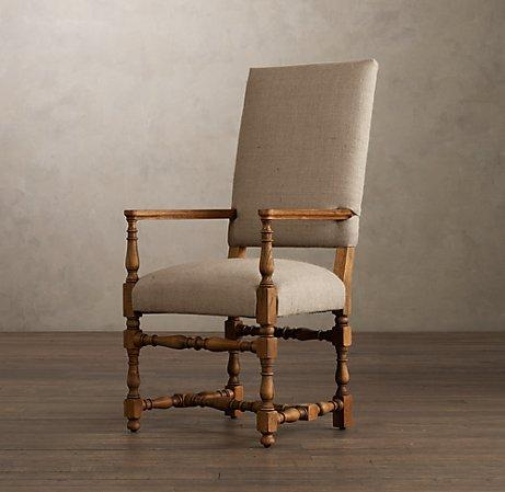 1890 English Baroque Upholstered Armchair Restoration
