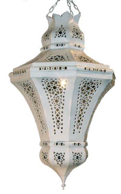 Moroccan Pendant Light Fixture Pierced Tin Ceiling Lighting Metal Lightweight Wunderley
