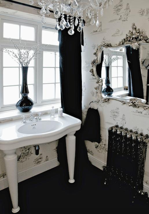 Parisian Pedestal Sink Transitional Bathroom 1st Option