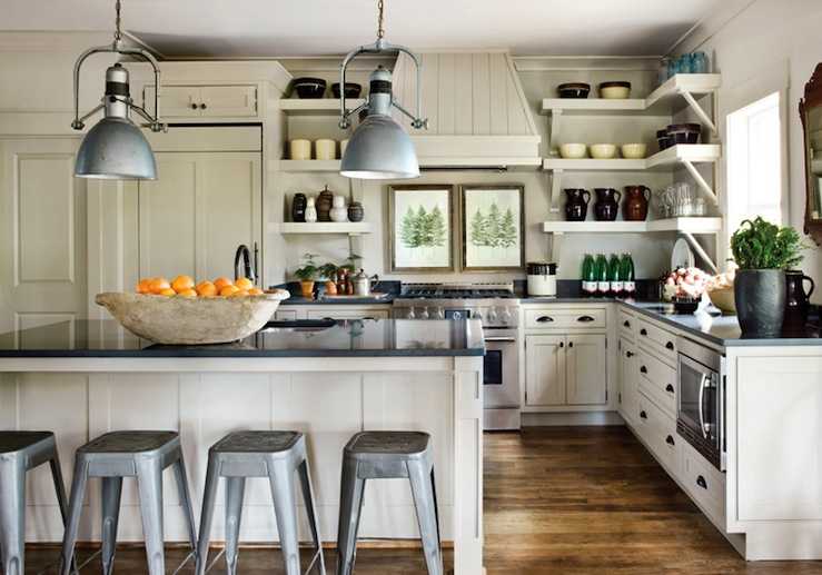 Cream Kitchen Cabinets Cottage Kitchen Atlanta Homes