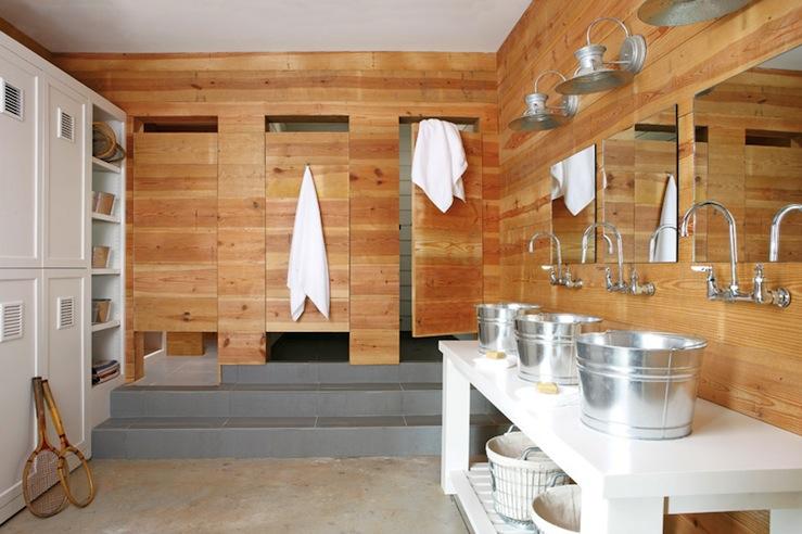 Cabin Style Boys Bathroom Country Bathroom Atlanta