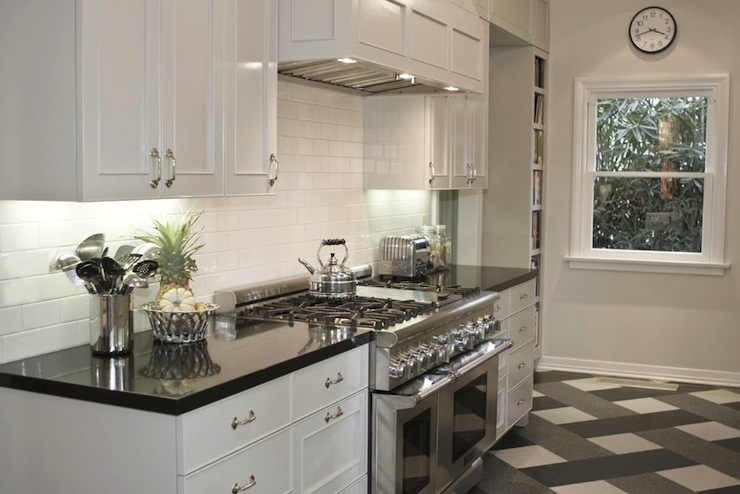 grey black and white kitchen 2017 - Grasscloth Wallpaper on What Color Cabinets With Black Granite Countertops  id=83979