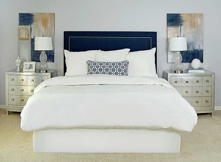 The Burban Cookie: Navy Tufted Bed