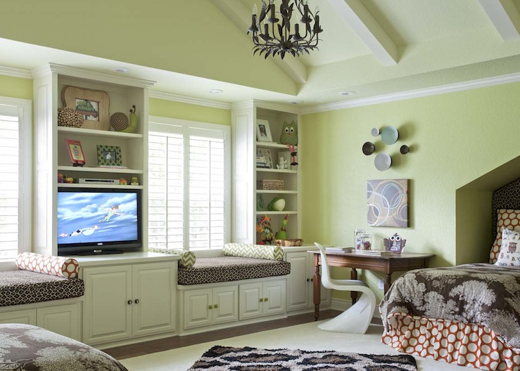 Kids Built In Cabinets Contemporary Girls Room