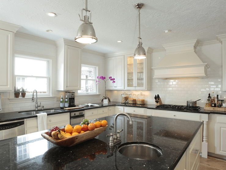 Black Granite Countertops - Transitional - kitchen ... on Backsplash With Black Granite Countertops  id=21381