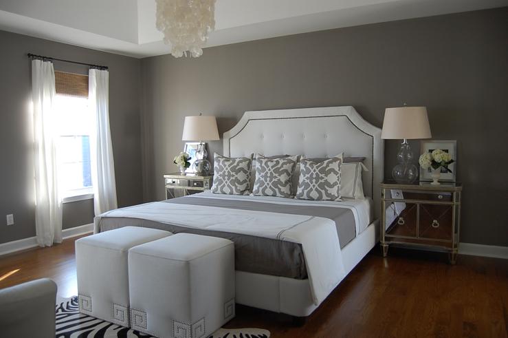Grey Blue Bedroom Walls Contemporary Bedroom Benjamin Moore Arctic Gray Caitlin Wilson