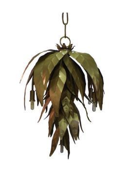 Metal Leaf Chandelier Pieces