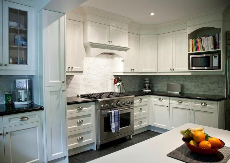 White Granite Countertops - Transitional - kitchen ... on Backsplash For Black Granite Countertops And White Cabinets  id=24026