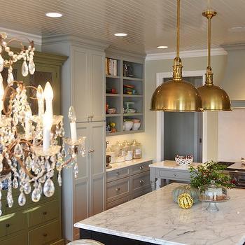 Brass Island Pendants French Kitchen Benjamin Moore