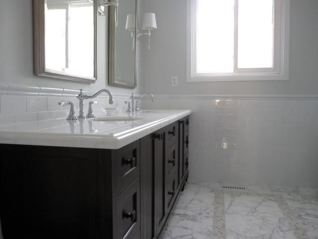 Gray Bathroom Walls Eclectic Bathroom Benjamin Moore