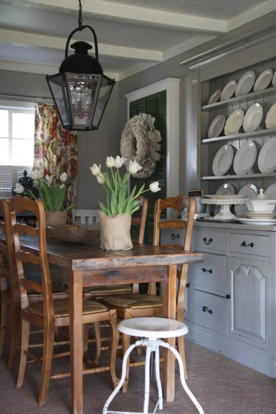 Built In Hutch Country Dining Room Holly Mathis