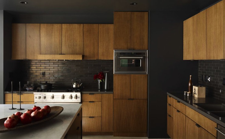 Black Kitchen Backsplash - Contemporary - kitchen - Curated on Kitchen Backsplash With Black Countertop  id=53276