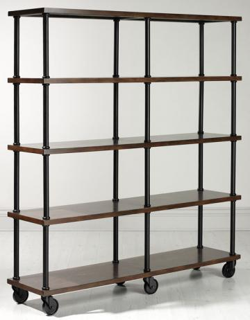 industrial mansard double book shelf