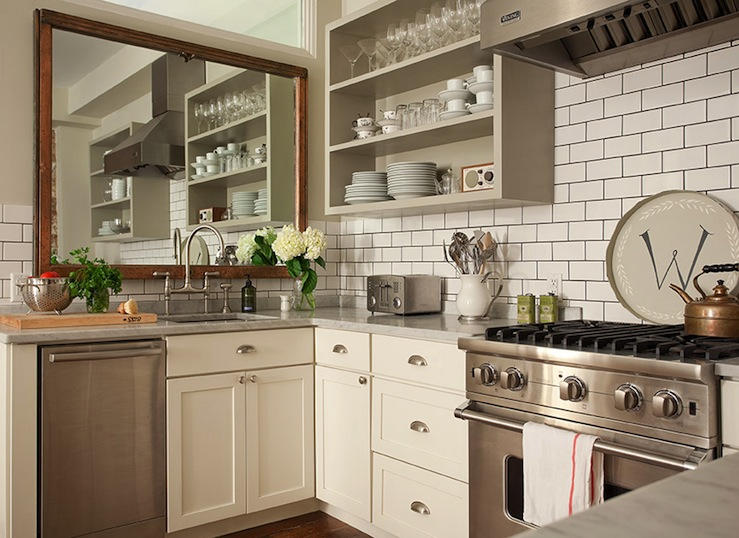 Ivory Shaker Cabinets Design Ideas