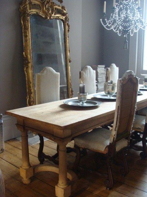 Gilt Floor Mirror French Dining Room Alex MacArthur