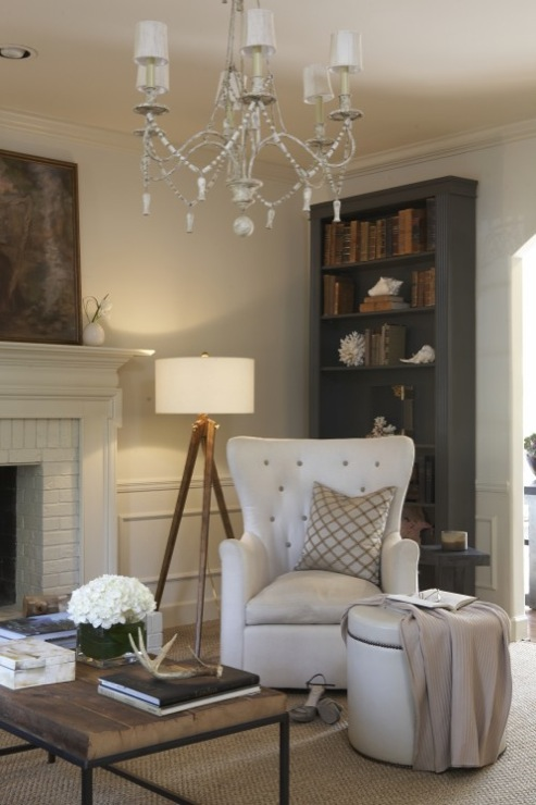 Gray Bookcase Traditional Living Room Dana Wolter