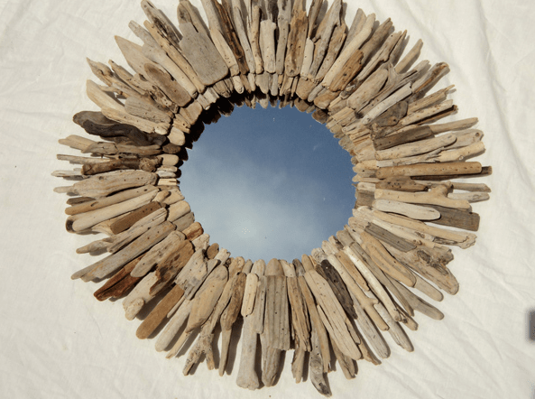Round Driftwood Mirror Look 4 Less