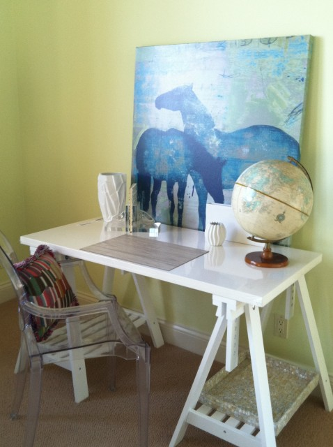 Saw Horse Desk Contemporary Girls Room Benjamin
