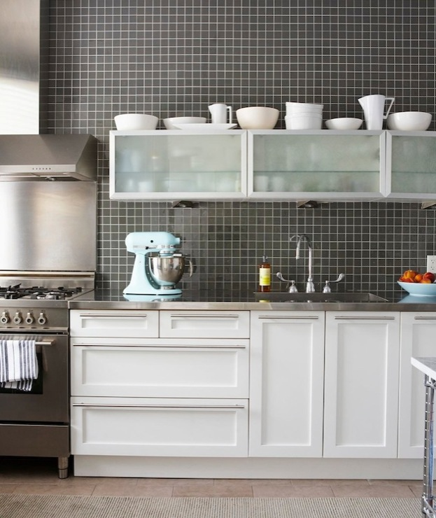 Black Kitchen Backsplash Design Ideas on Kitchen Backsplash With Black Countertop  id=51633