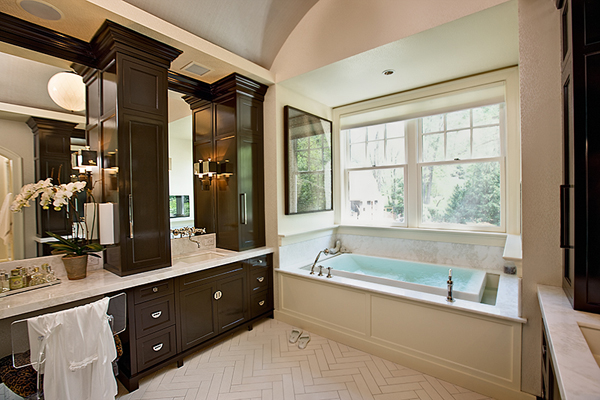 Chocolate Brown Cabinets