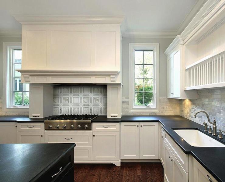 Honed Black Countertops - Transitional - kitchen ... on Kitchens With Black Granite Countertops  id=32993