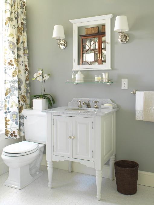 Gray Bathroom Cottage Bathroom Farrow Amp Ball Lamp