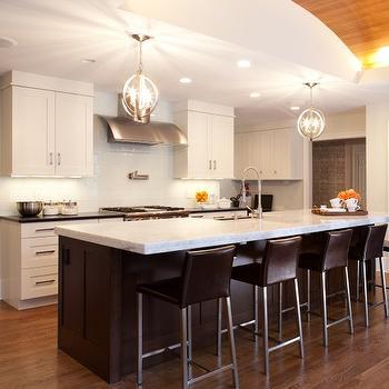 White Princess Quartzite Contemporary Kitchen Aidan