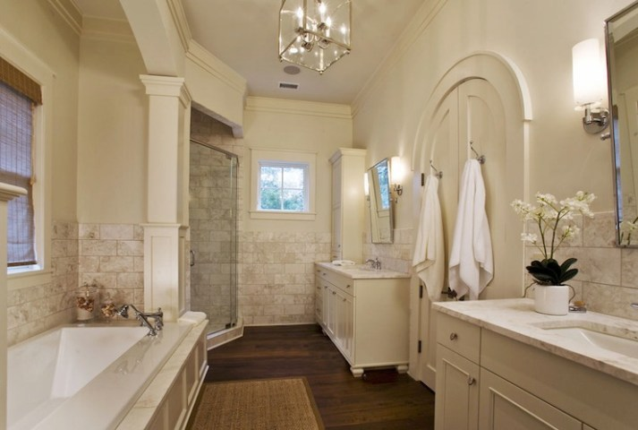 Arched French Doors   Traditional   bathroom   Herlong   Associates Arched French Doors