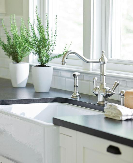 Honed Black Granite Countertops Design Ideas on Farmhouse Granite Countertops  id=11670