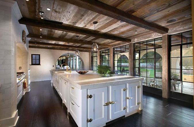 Wood Beam Kitchen Ceiling Design Ideas