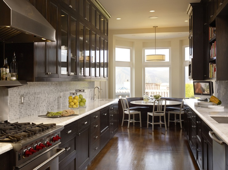 Chocolate Brown Cabinets Design Ideas