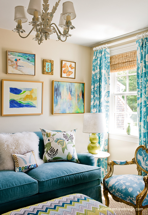 Peacock Blue Sofa Contemporary Living Room Frank Roop