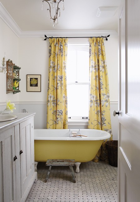 gray and yellow bathroom design ideas
