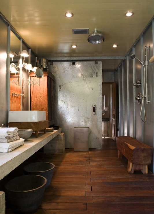 Industrial Bathroom Design Modern Bathroom Mell Lawrence Architects