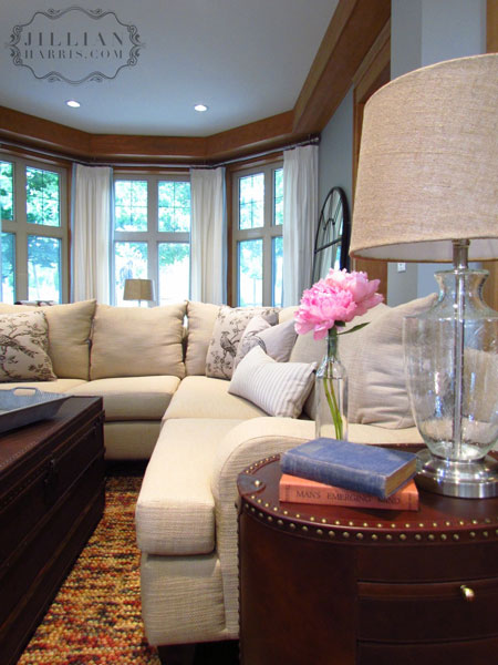ivory sectional transitional living