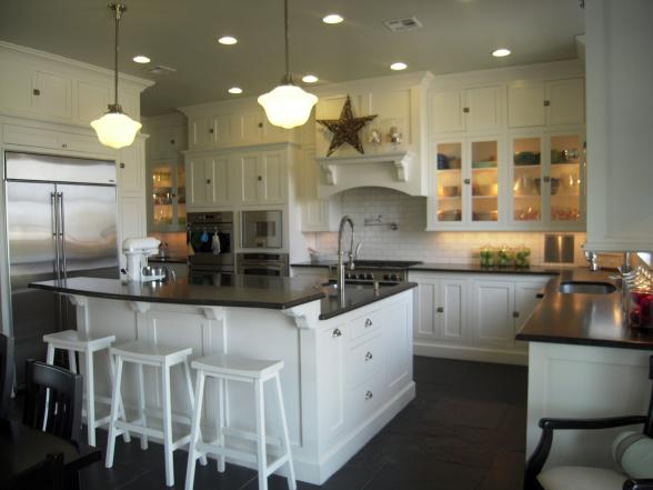 Honed Black Granite Countertops - Traditional - kitchen - HGTV on Farmhouse Kitchen Farmhouse Granite Countertops  id=80338