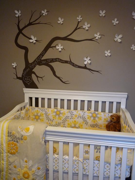 Tree Stencil For Wall Contemporary Nursery Turquoise LA