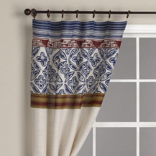 pagoda stripes jute curtain panel