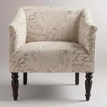 Marais Side Chair Accent Chairs Living Room