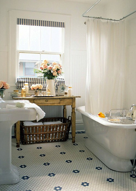 shower curtain track cottage