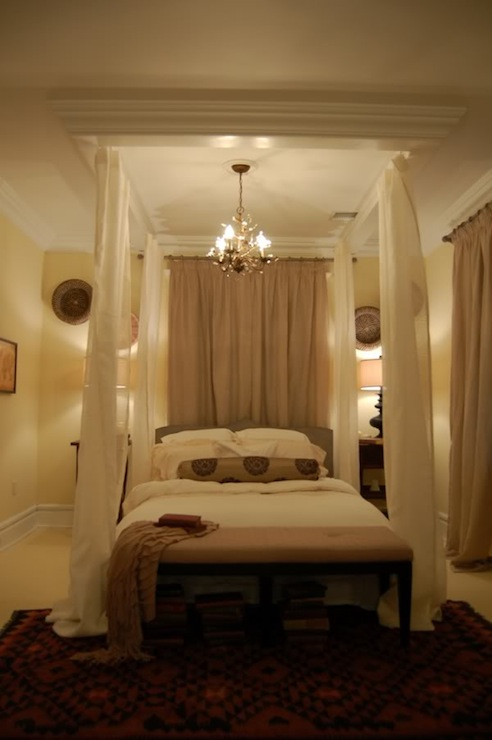 Ceiling Bed Canopy Eclectic Bedroom Hgtv