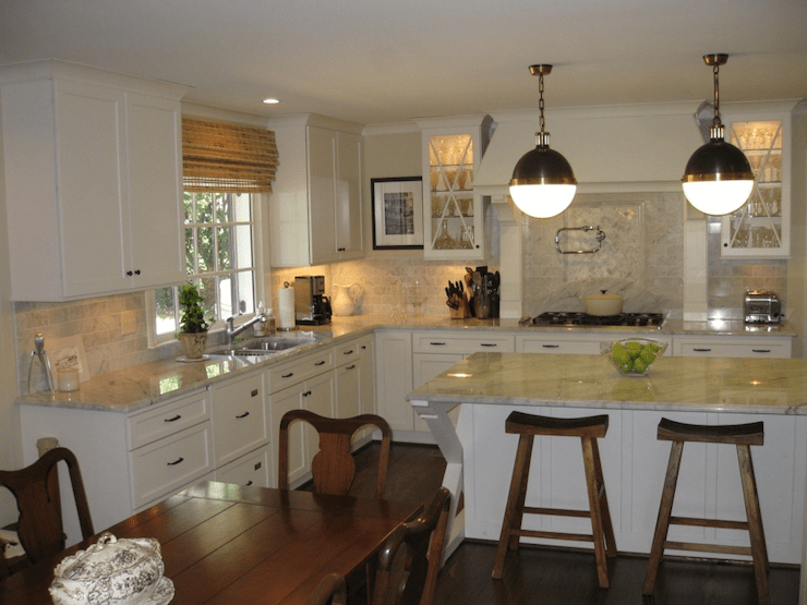 Kitchen Island Hicks Pendants Traditional Kitchen
