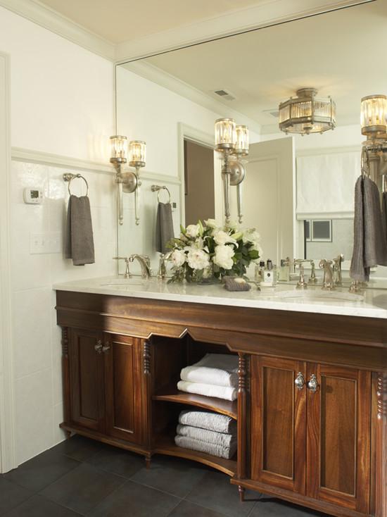 Dark Maple Cabinets - Traditional - bathroom - Martha O ... on Bathroom Ideas With Maple Cabinets  id=25301