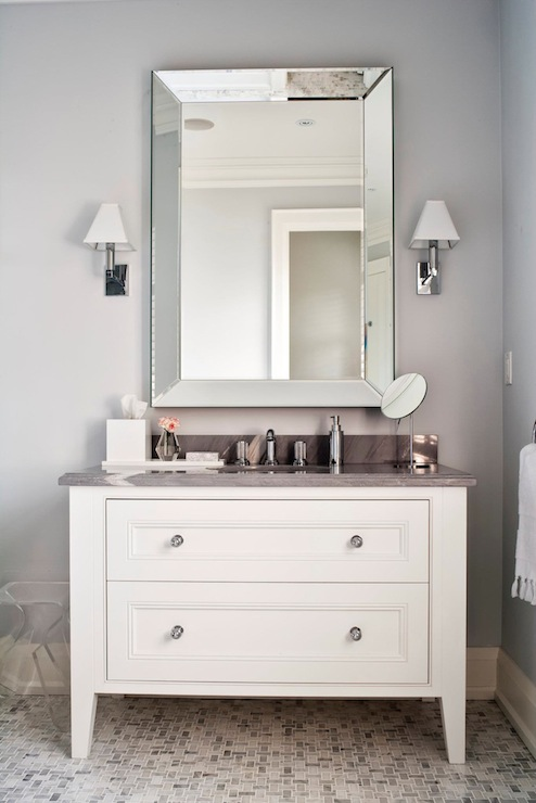beveled bathroom mirrors design ideas